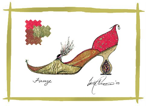 Barbra music shoes greeting cards firenze paper shoe greeting cards m4hsunfo