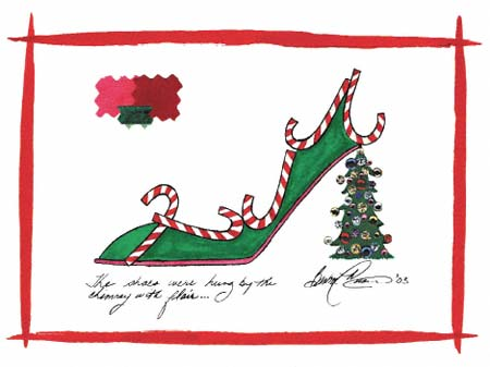 Barbra music shoes greeting cards christmas shoe the shoes were barbra music shoes greeting cards christmas shoe the shoes were hung greeting cards m4hsunfo