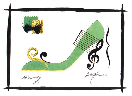 Barbra music shoes greeting cards noteworthy shoe greeting cards m4hsunfo